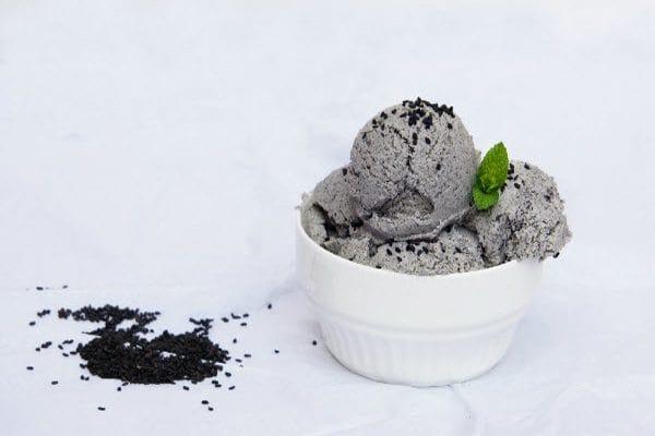 cách làm kem mè đen