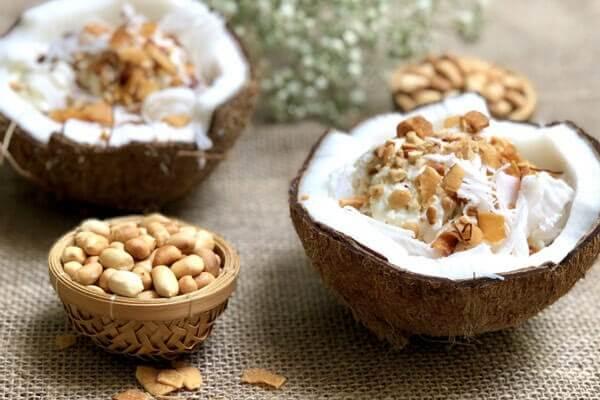 công thức làm kem dừa ngon