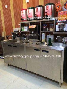 Địa điểm cung cấp quầy bar pha chế trà sữa inox giá rẻ tại TPHCM