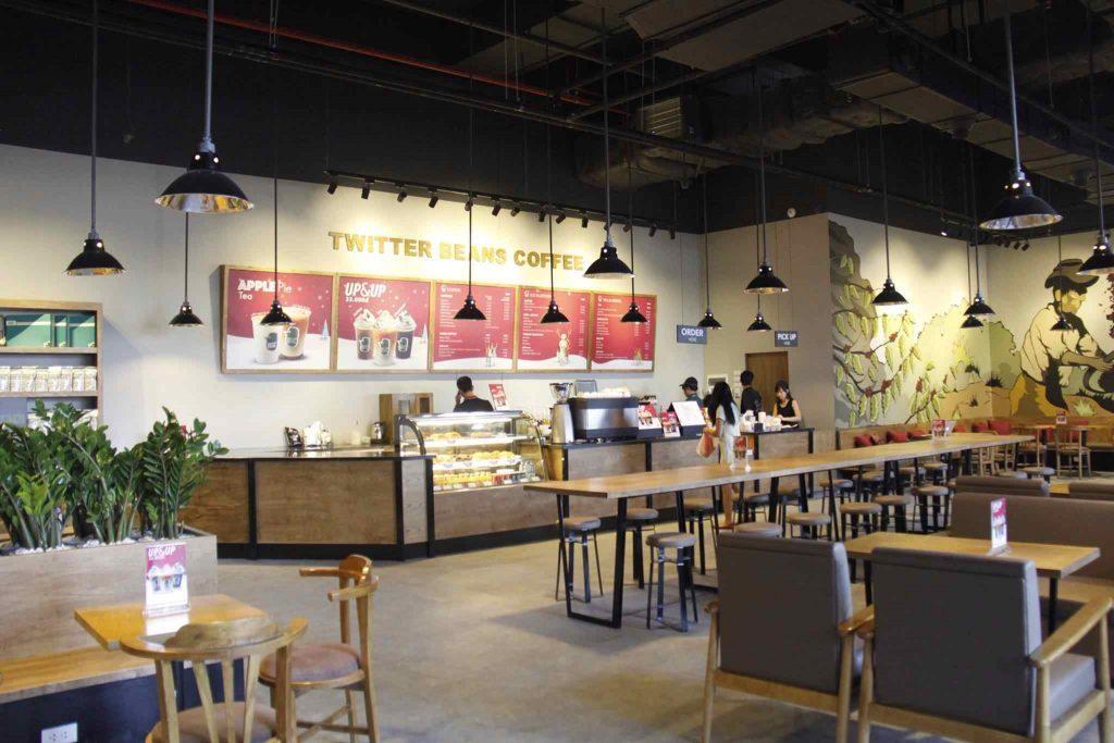 Một quán cafe được Tam Long nhận tư vấn thiết kế