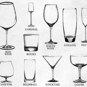 Các loại ly thủy tinh