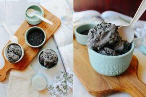 hướng dẫn cách làm kem mè đen