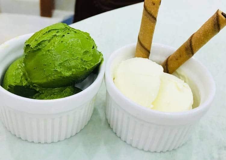 hướng dẫn cách làm kem trà xanh