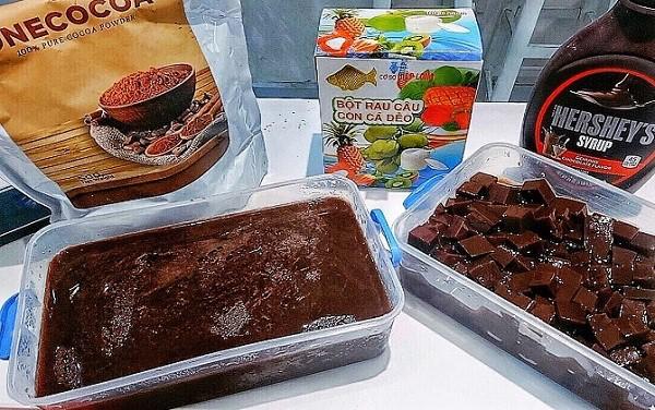 cách làm thạch rau câu chocolate - Tam Long Group