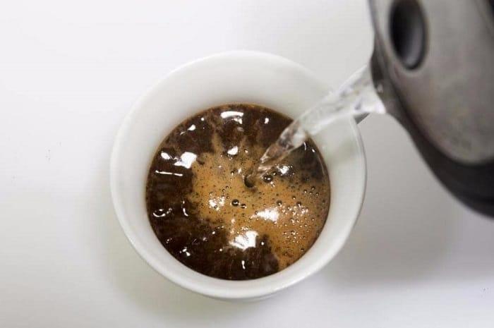 pha chế cafe americano