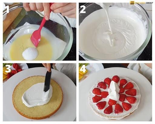 các bước làm bánh kem