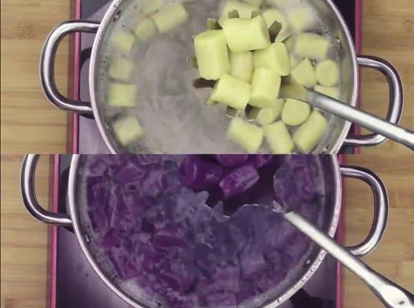 cách nấu khoai môn - Tam Long Group