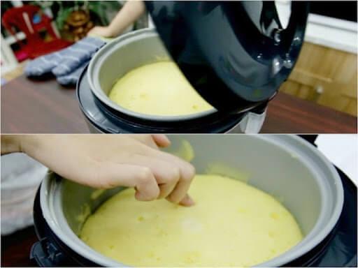 làm bánh kem bằng nồi cơm điện