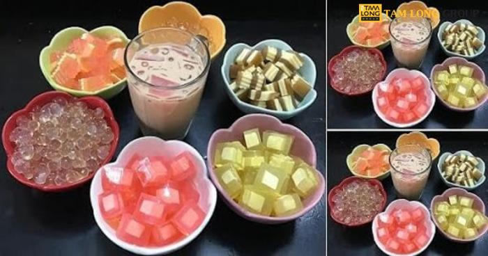 Cách làm các loại thạch rau câu trà sữa - Tam Long Group