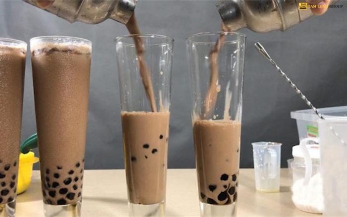 cách làm trà sữa socola - Tam Long Group