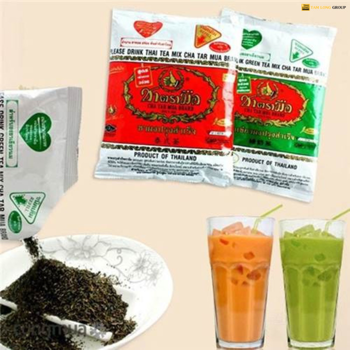 cách làm trà sữa thái xanh - Tam Long Group