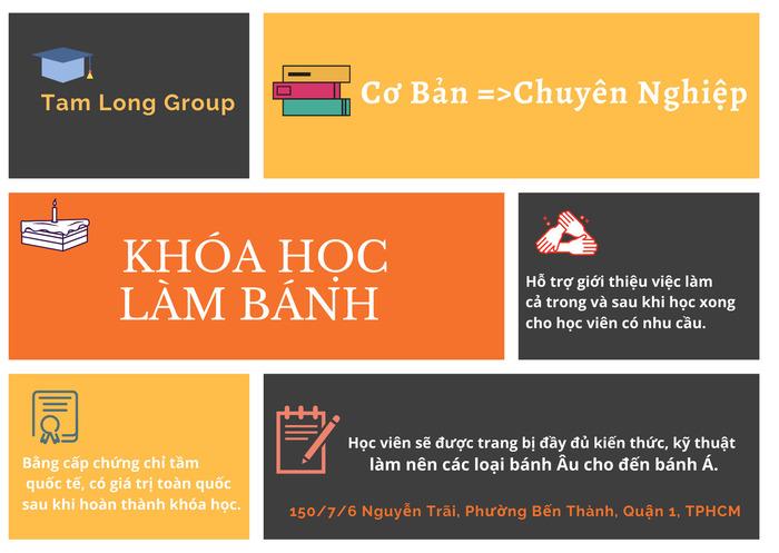 học phí khóa học làm bánh - Tam Long Group