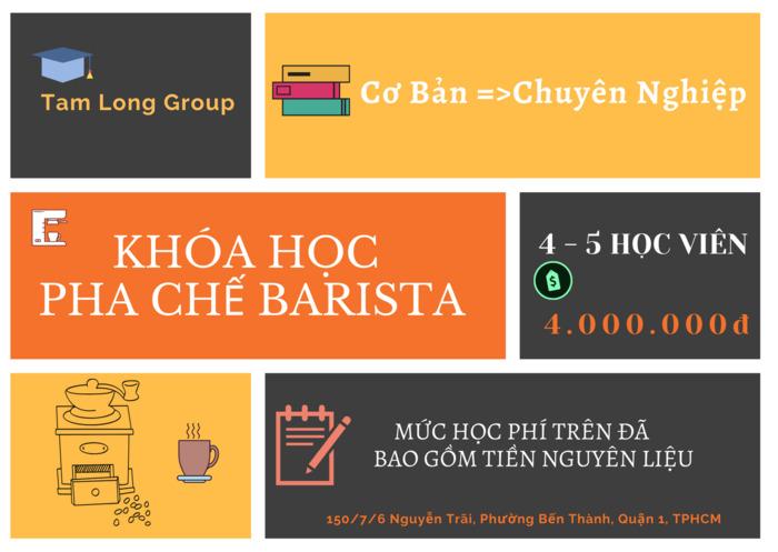 học phí khóa học barista - Tam Long Group