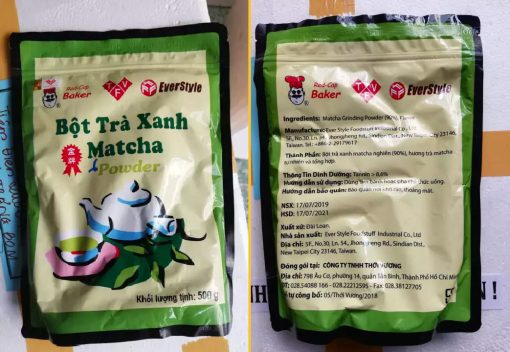 Bột Trà Xanh Matcha Đài Loan Red-Cap Baker 0.5kg