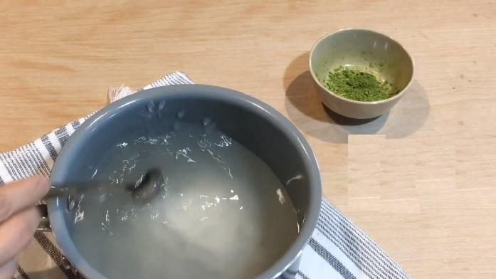 cách làm thạch trà xanh