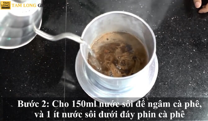 pha cà phê phin đúng cách