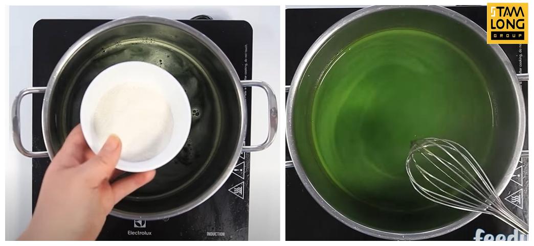 nấu thạch trà sữa thái