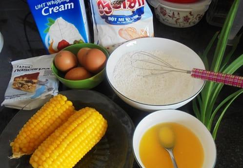 hướng dẫn cách làm bánh kem bắp