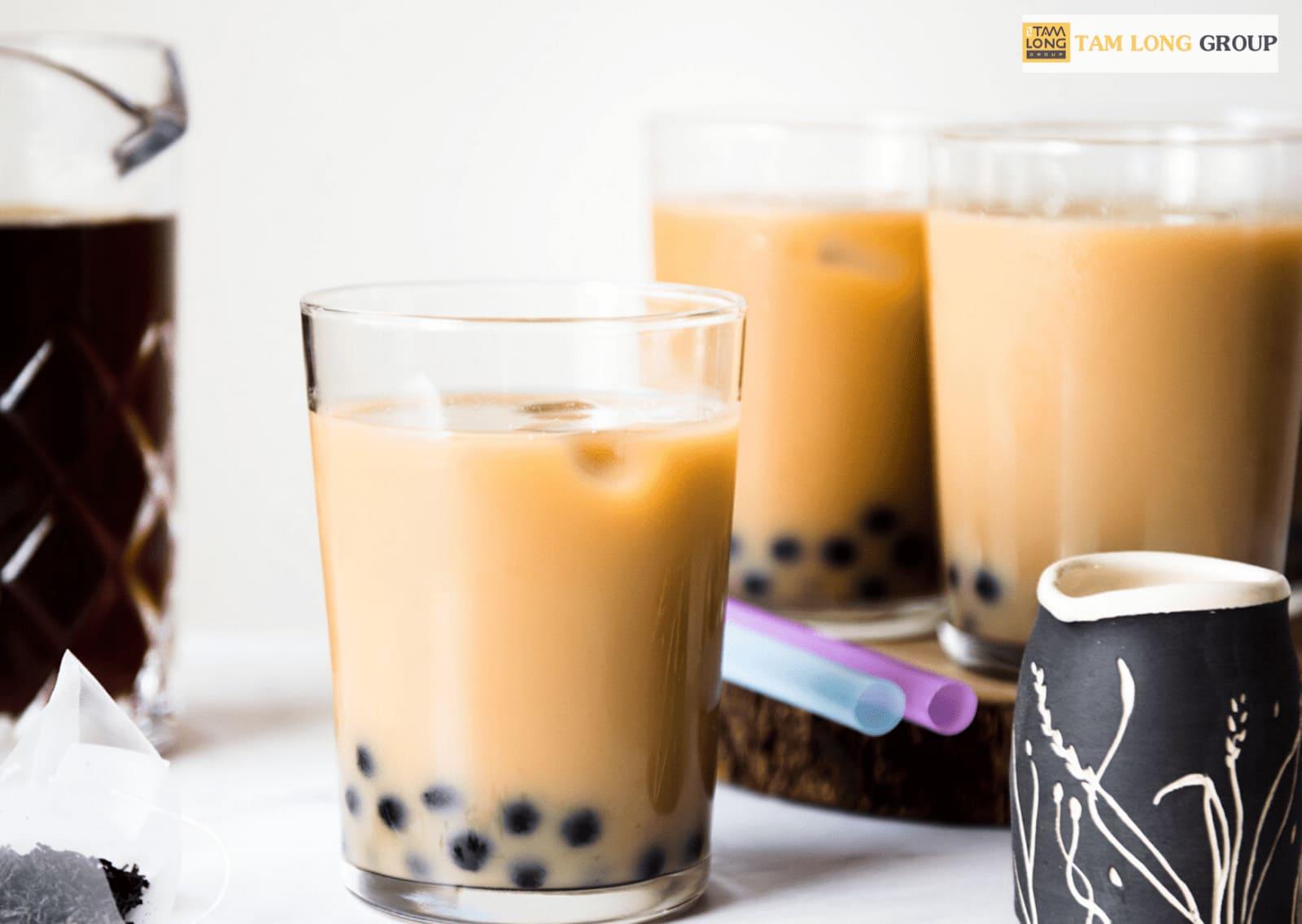 pha trà sữa trà đen
