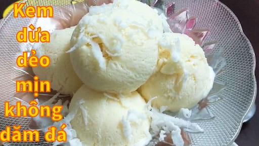 cách làm kem dừa không dùng trứng