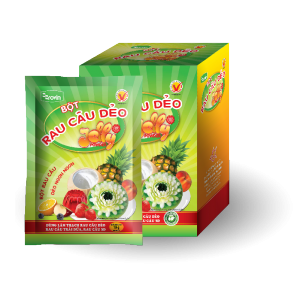 Bột rau câu dẻo Hoàng Yến (hộp 12 gói x 10g)