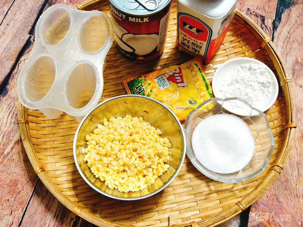 Cách làm kem trứng đậu xanh