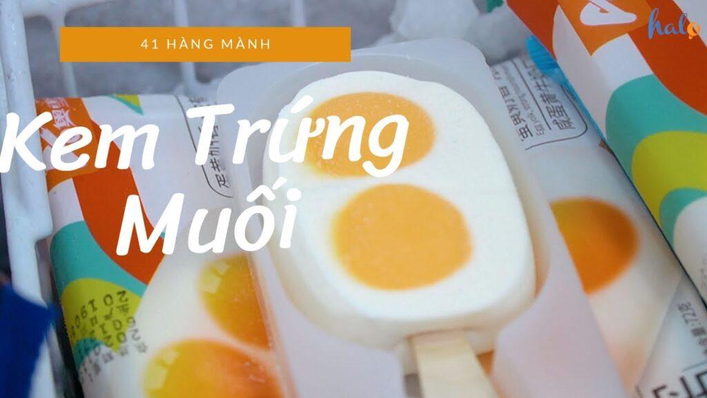 Cách làm kem trứng muối