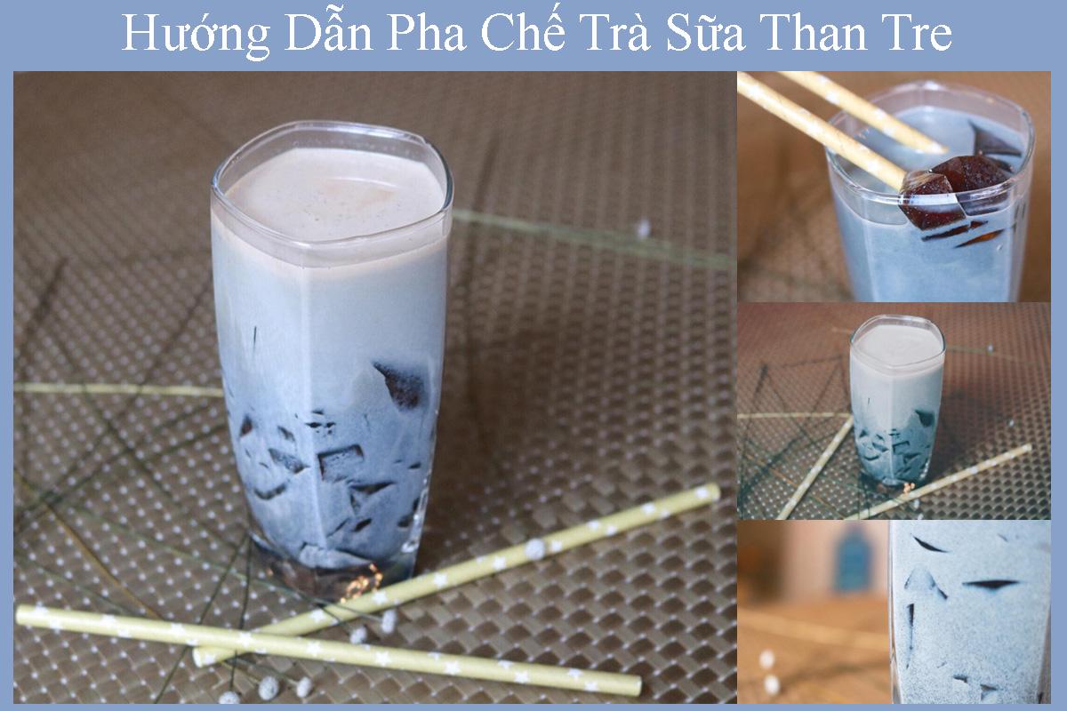 Cách làm trà sữa than tre