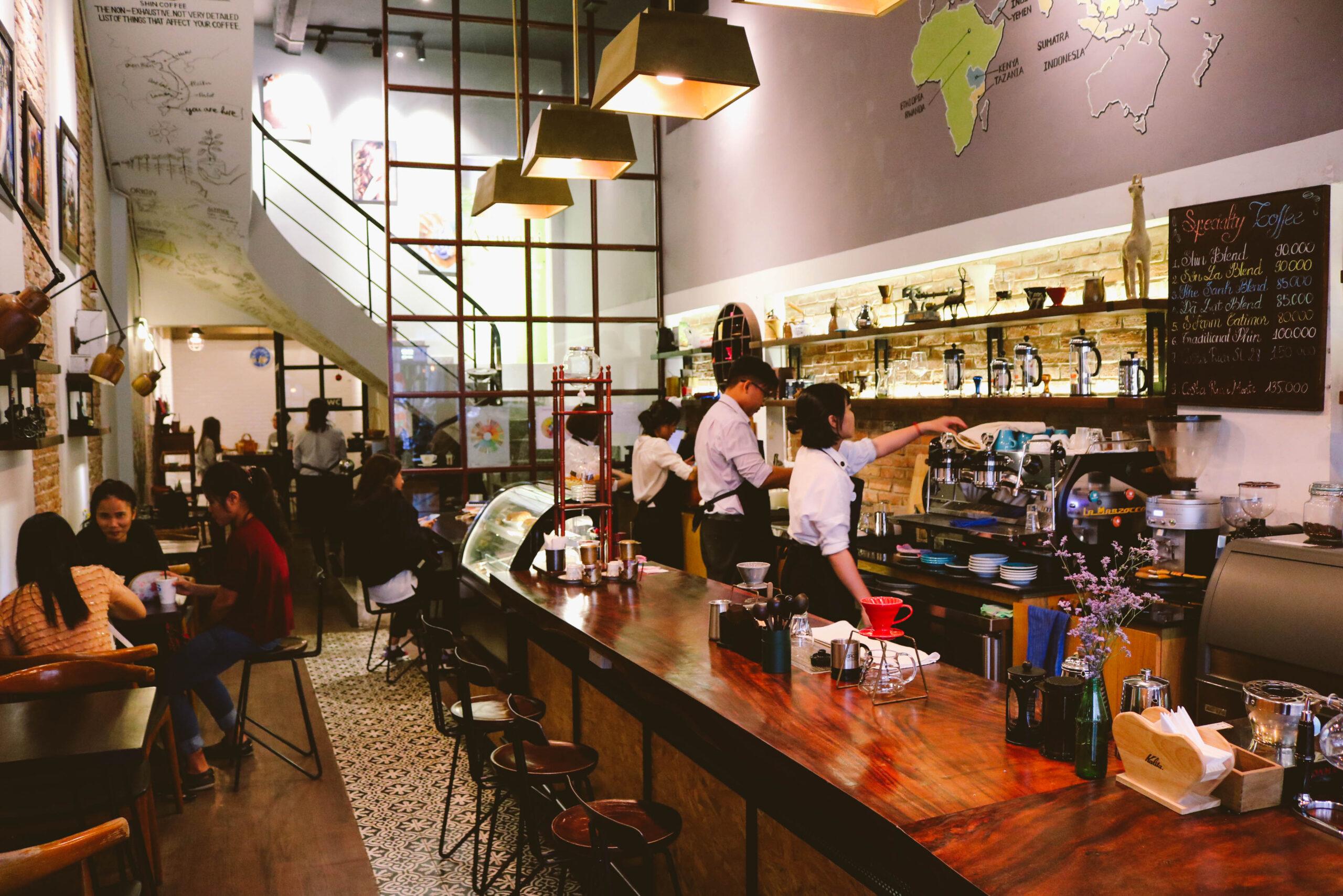 Không gian quán cà phê đẹp