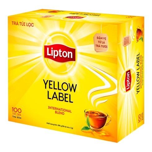 Lipton Nhãn Vàng Hộp 100 Túi