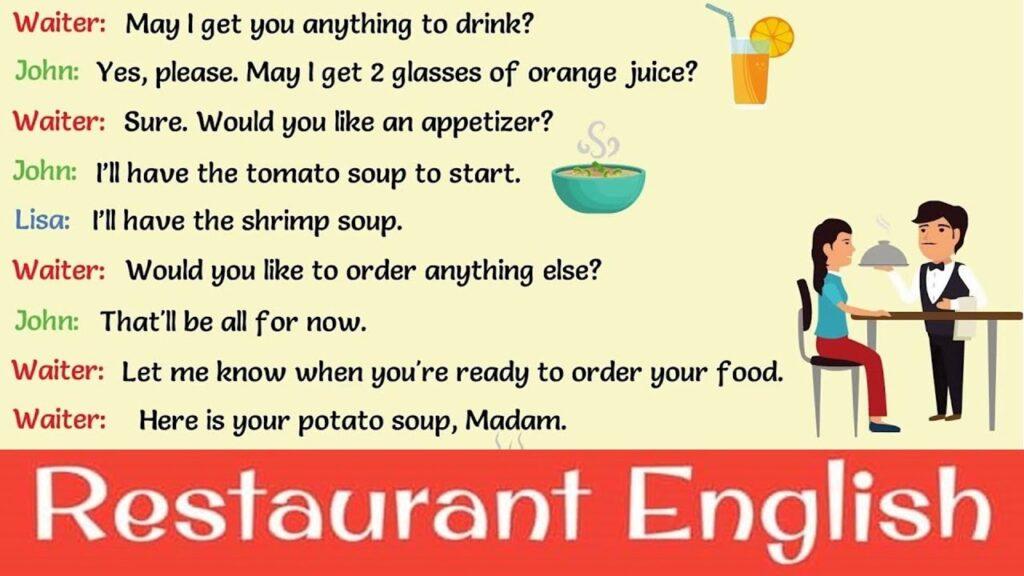 Những đoạn hội thoại tiếng Anh trong nhà hàng
