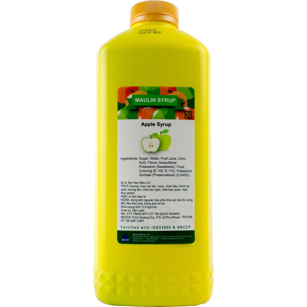 Siro Táo xanh Maulin 2,5Kg